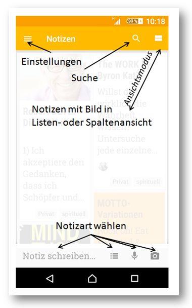 Google Keep/Notizen (c) Sylvia Nickel