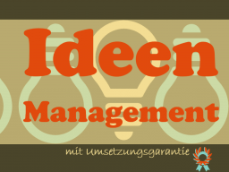 Ideenmanagement (c) Sylvia NiCKEL